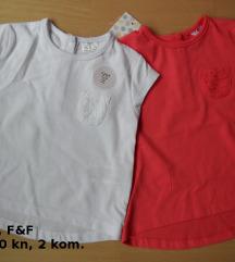 Nova F&F majica, 2 kom., 0-3 mj., 62