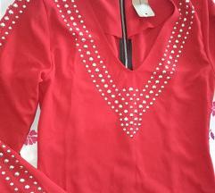 Crvena,pencil haljina