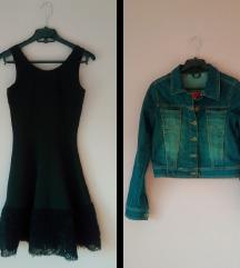 LOT haljina+traper jakna (pt uključena)