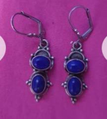 Naušnice srebro 925 i lapis lazuli
