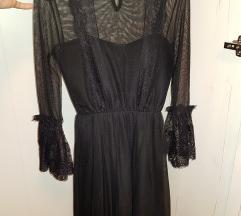 Nova crna haljina od čipke S/M