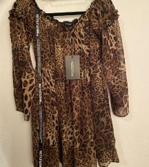 PLT Leprsava haljina leopard uzorak