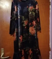 Cvjetna velvet haljina