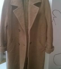 Oversize Camel kaput od čiste Virgin vune