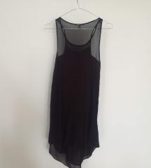 Mango crna haljina lepršava