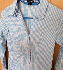 Karirana plava košulja