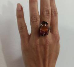 Srebrni prsten s karneolom