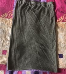 REZER- Plus size pletena suknja