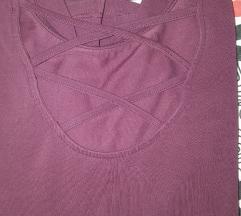 Tally weijl bordo majica 3/4 rukava XS/S