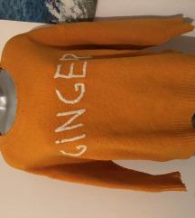 Zara Ginger Pulover Majica Tunika Novo