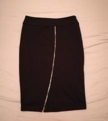 Suknja/šos nova crna visoki struk