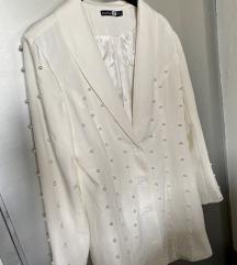 Bijeli sako sa perlicama / NOVI