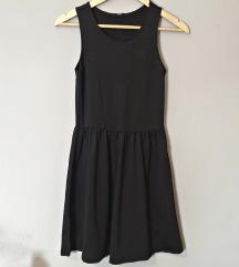 Crna skater haljina bez rukava
