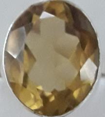 Masivni 925 prsten sa citrinom
