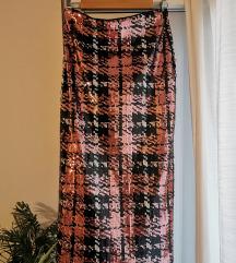 Zara šljokičasta suknja S