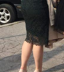 Svečana zelena Mango midi haljina, 38