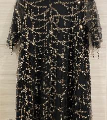 ZARA haljina sa šljokicama