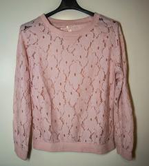 Čipkasta roza majica
