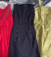 Lot od 3 haljine vel S. Etiketa