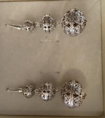 Šibenski botuni srebro naušnice novo