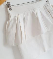 %% ZARA bijela suknja s volanom