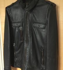 CALVIN KLEIN crna kožna jakna, M