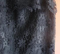 Suknja -  crna čipka vel.38
