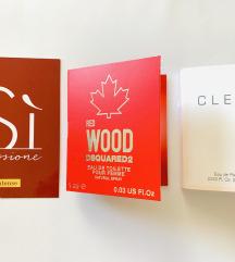 Mini parfemi Armani, dsquared i clean