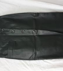 Stradivarius kožna suknja