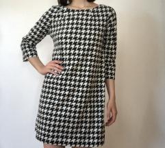 H&M zimska haljina pepita uzorka