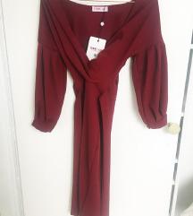 Burgundy haljina NOVO s etiketom