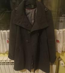 Sivi strukirani kaput ZARA /Veličina S