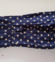 Tom Joule plava točkasta haljina