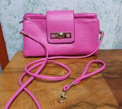 Roza torbica sa dva remena