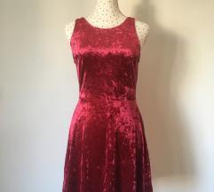 H&M plišana bordo haljinica
