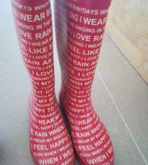 Gumene cizme 37 mass visoke crvene
