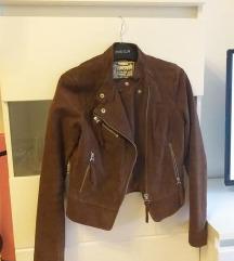 Nova jakna-prava brušena koža 36/38