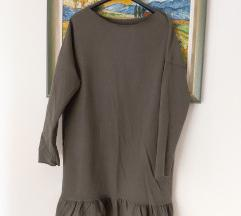 Midi maslinasta haljina