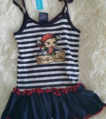 Mornarska piratska haljinica 98