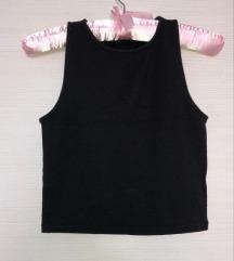 Crni crop top / majica bez rukava