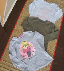 Tri majice vel.128