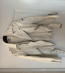 Zara bijela kožna jakna