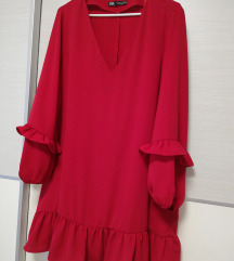 Zara crvena haljina