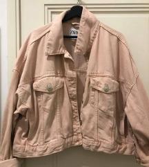 Zara roza traper jakna