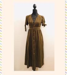 P&B button-up pamučna midi ljetna haljina S-M