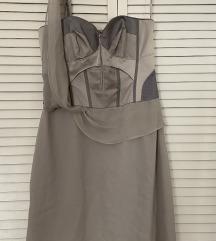 Karen Millen svilena korzet haljina