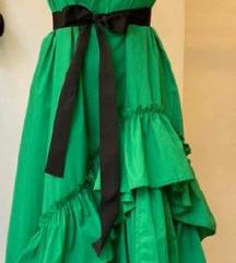 Zelena haljina asimetricna M/L