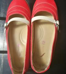 Cipele koža crvene