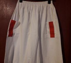 Bijela ljetna suknja