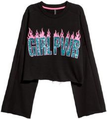 H&M crop majica girl pwr vl.S